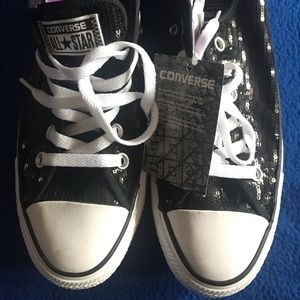 Brand NEW!! Converse All Star - Black sequins